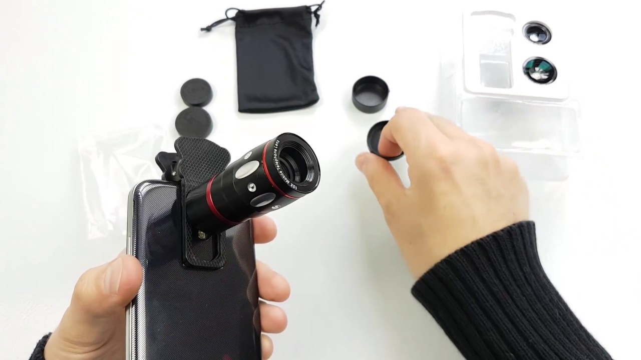 AliExpress Zakupy z Chin #1 – Obiektywy do Smartfona + Unboxing & Test