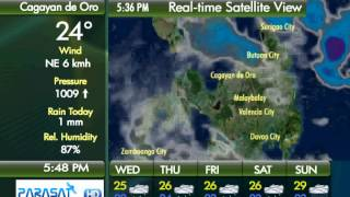 Parasat Weather Update Cagayan de Oro City: January 9, 2013 (6pm)