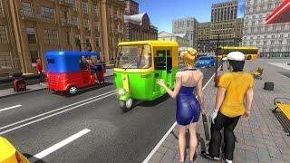 Modern Tuk Tuk Rickshaw Driving - City Mountain Auto Driver - Android GamePlay 2022 screenshot 5