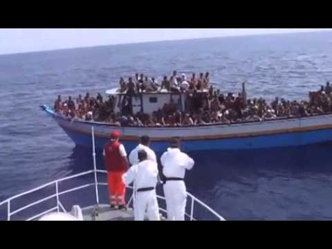 """How Italy responds to """"boat people"""" - asylum seekers."""