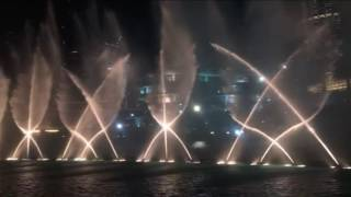 The Dubai Fountain New Year 2017 skyfall