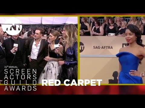 Joe Keery, Natalia Dyer, & Dacre Montgomery: Red Carpet Interview   24th Annual SAG Awards   TNT