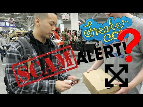 DID I GET SCAMMED AT SNEAKERCON ?? LEGIT CHECK OFF WHITE VAPORMAX