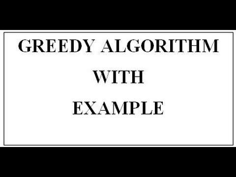 GREEDY ALGORITHM WITH EXAMPLE (English+Hindi) - YouTube