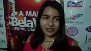 Gabriela Marta fala da alegria de estar participando do concurso a 'Mais Bela Voz'