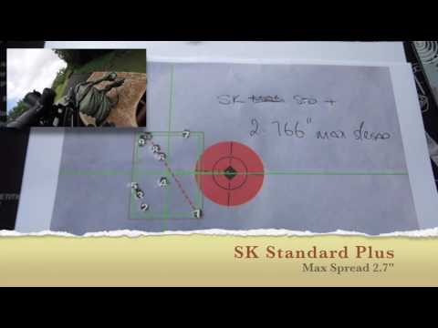 Review of Eley Force, Eley Contact and SK Standard Plus results at 100 yards.