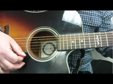 Josh Turner Your Man how to play on guitar easy guitar lesson