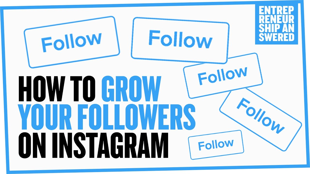 54309110c3ed How To Grow Your Followers On Instagram - YouTube
