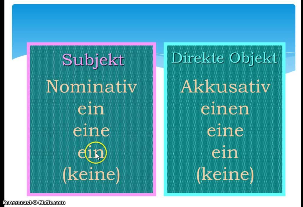 Analyse og kasus. Del 1: Nominativ og Akkusativ.