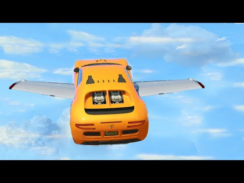 FLYING CARS #69 (GTA 5 Funny Moments)