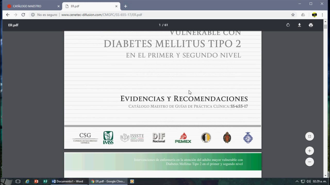 cenetec diabetes mellitus