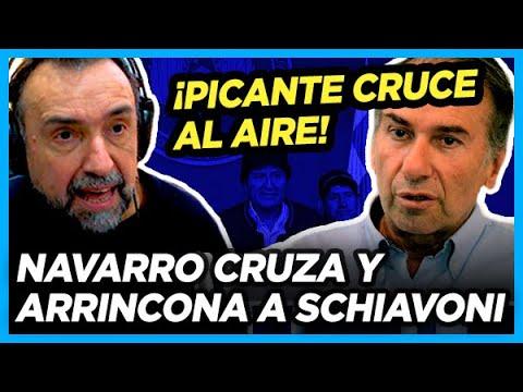 TREMENDO Navarro cruzó y arrinconó al aire a Schiavoni por negar el golpe en Bolivia
