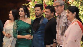 Punith rajkumar visiting on Ramesh Aravind Daughter Marriage Reception|Niharika & Akshay|sudeep-SStv