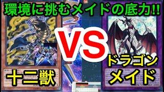 【遊戯王】2期確定記念にガチ決闘‼︎十二獣vsドラゴンメイド【対戦動画】