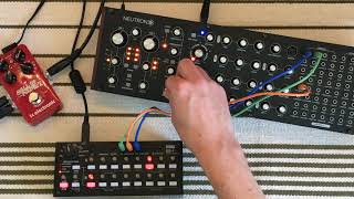 Behringer Neutron - Korg Sq-1 - TC Electronic Hall of Fame 2 [ Live Ambient Synthesizer Jam ]