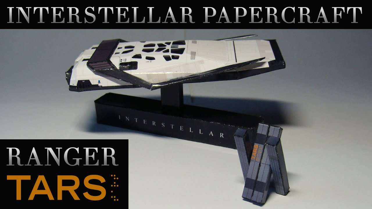 Papercraft Interstellar Papercraft - Ranger and TARS (Stop-motion assembly)