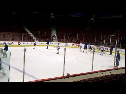 Rogers  Arena NHL  Vancouver Canucks   hockey    practice 2017 02 27