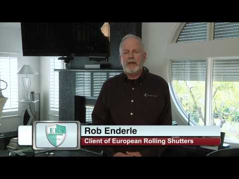 Rob Enderle uses Exterior Rolling Shutters to block the sun