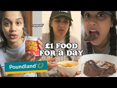 trying poundland food for a day | clickfortaz