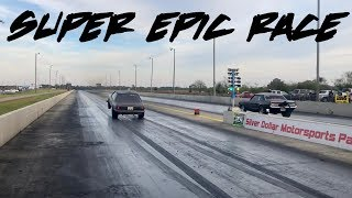 SUPER EPIC RACE RIGHT HERE! 2 BAD NITROUS STANGS