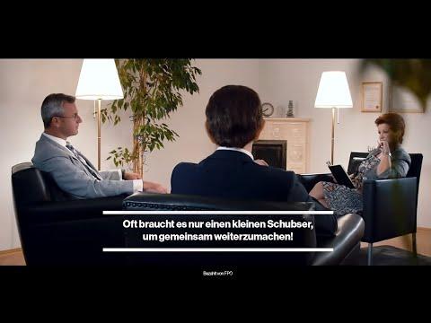 HOFER MIT KURZ IN THERAPIE<br/>Im FPÖ-Spot geht Norbert Hofer mit Sebastian Kurz zur Paartherapeutin. Ibiza sei ja nur ein dummer Fehler gewesen.