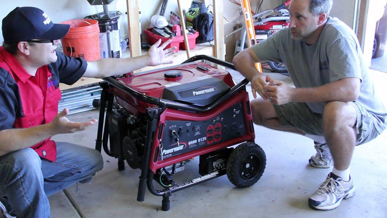 Powermate 6 500 Watt Gasoline Powered Portable Generator