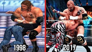 The Evolution Of Triple H Pedigree ( WWF War Zone To WWE 2K18 )