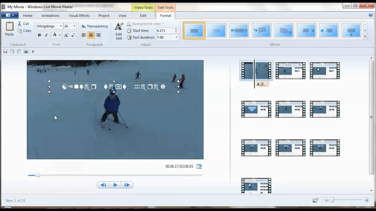 Microsoft movie maker picture