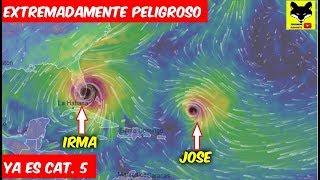 """Huracán Irma Extremadamente Peligroso ya es Categoria 5. SIN TREGUA ahí viene """"el Huracán Jose"""""""