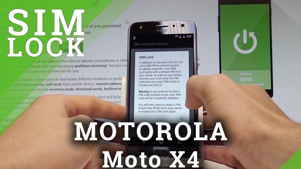 How to Set Up SIM Lock on MOTOROLA Moto X4 - Configure PIN |HardReset Info  by HardReset Info