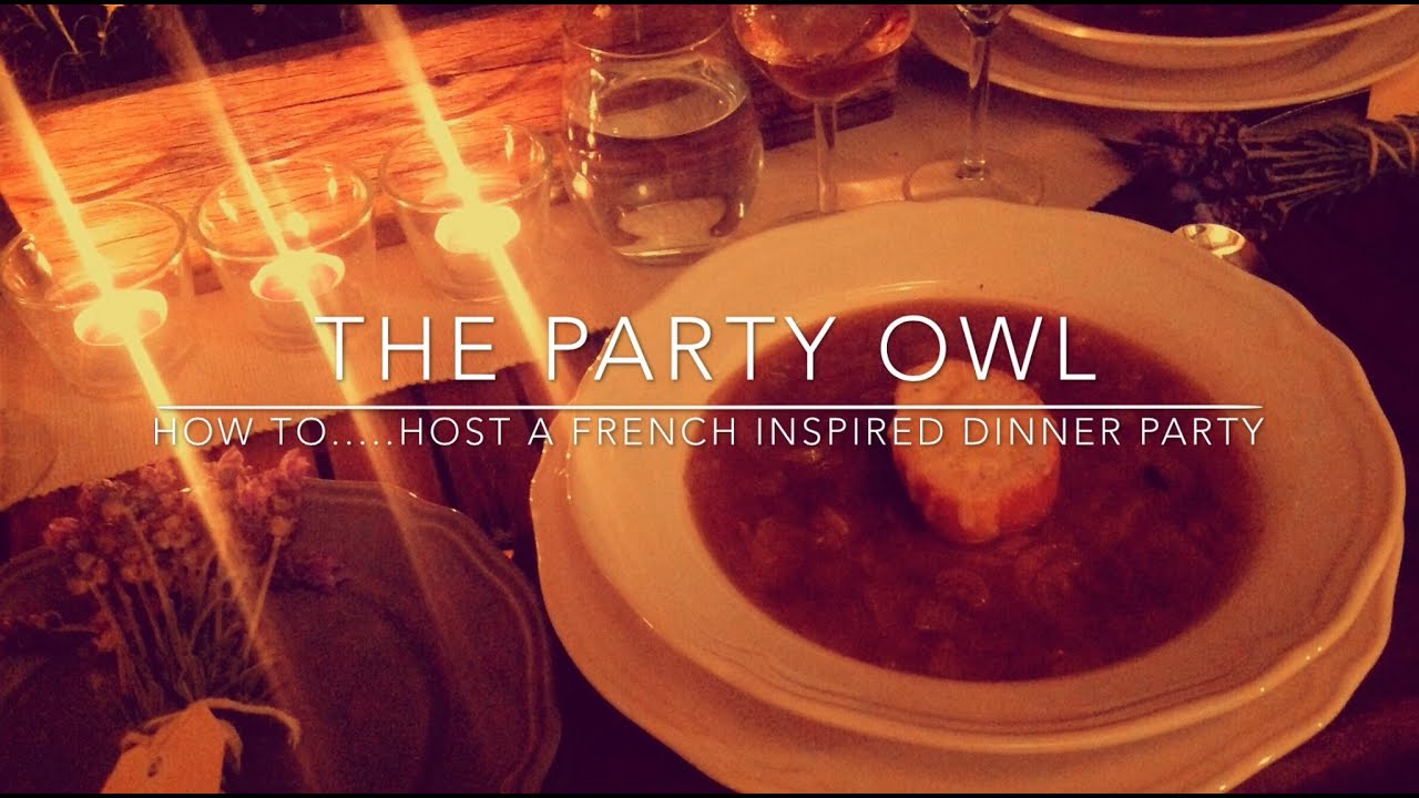 a paper on how to host a dinner party
