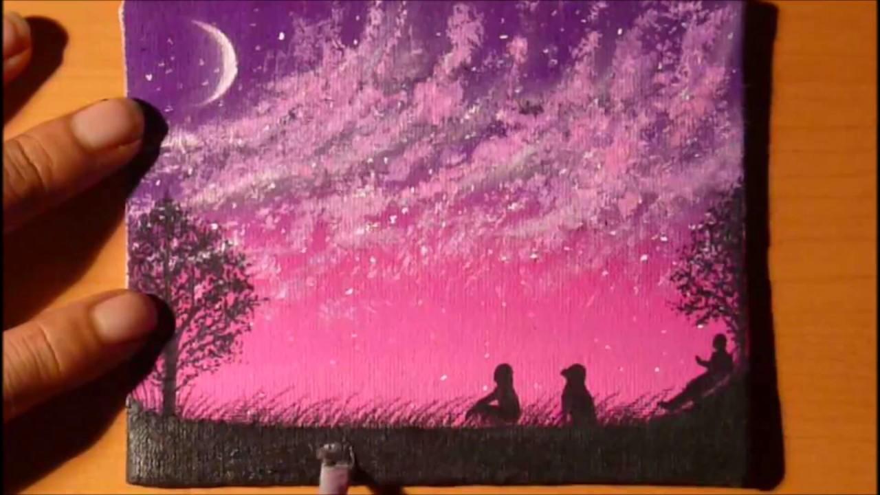 Dibujando Paisaje Nocturno Con Gises Pastel Youtube