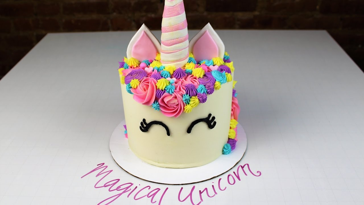 Magical Unicorn Cake I Chelsweets Youtube