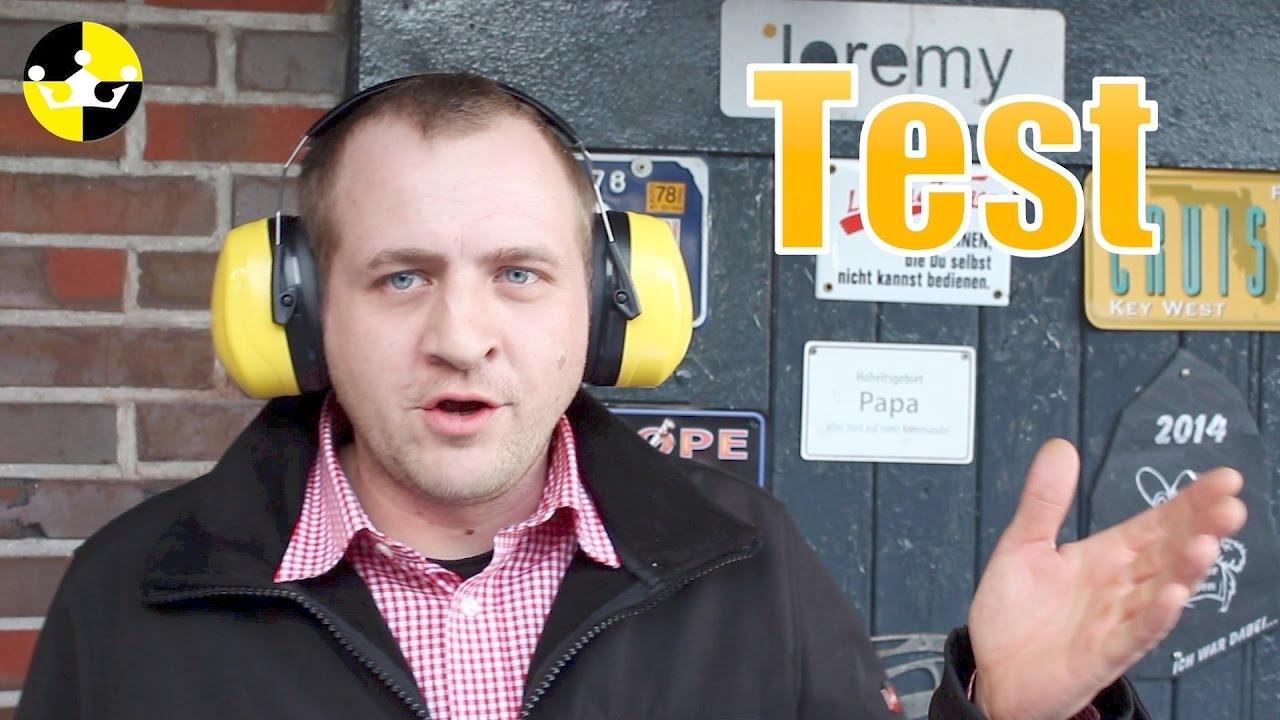 gehörschutz test review deutsch jagt , schießen , arbeit, - youtube