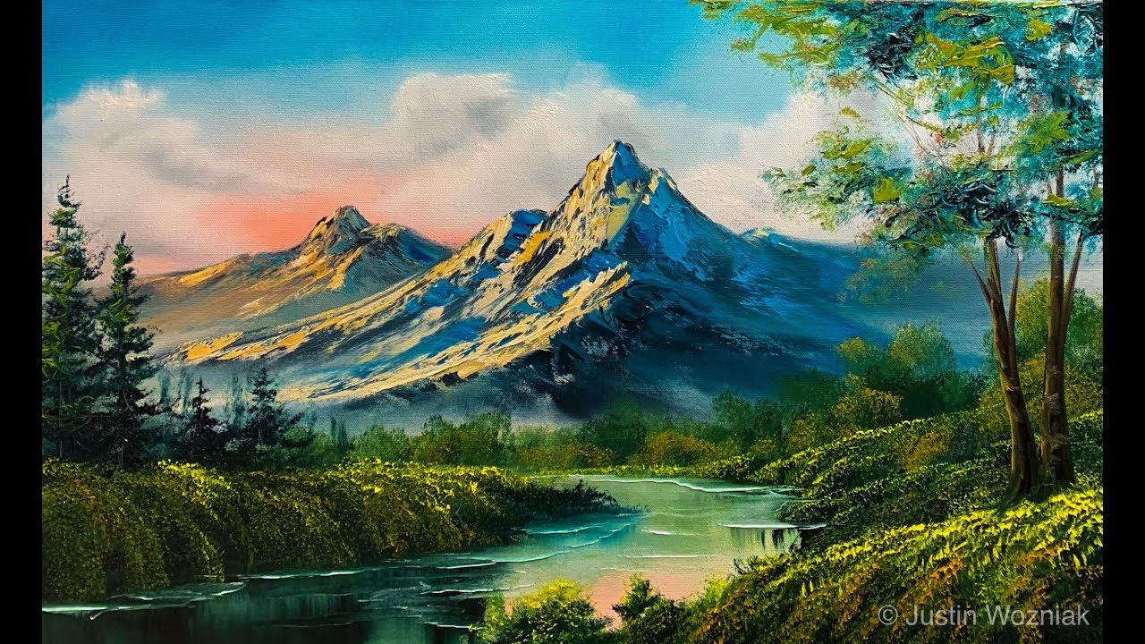 Landscape Painting 101 The Easiest Painting Paintings By Justin Youtube