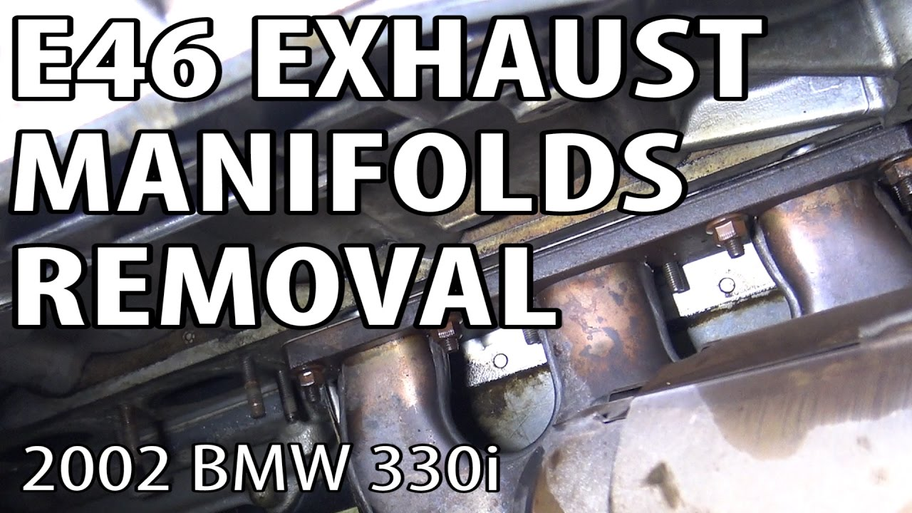 BMW E46 Exhaust Removal #m54rebuild 4