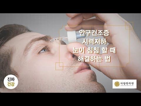 안구건조증, 시력저하, 비문증, 눈침침함을 �