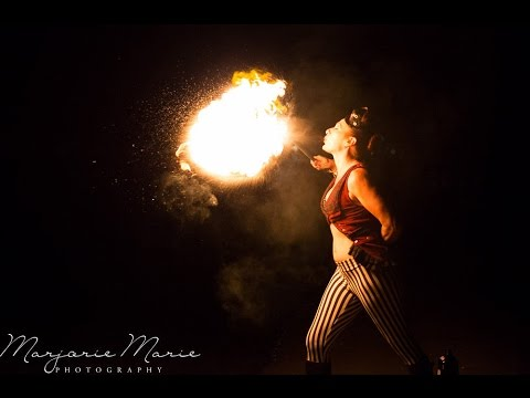 Vintage Circus Act - Fire