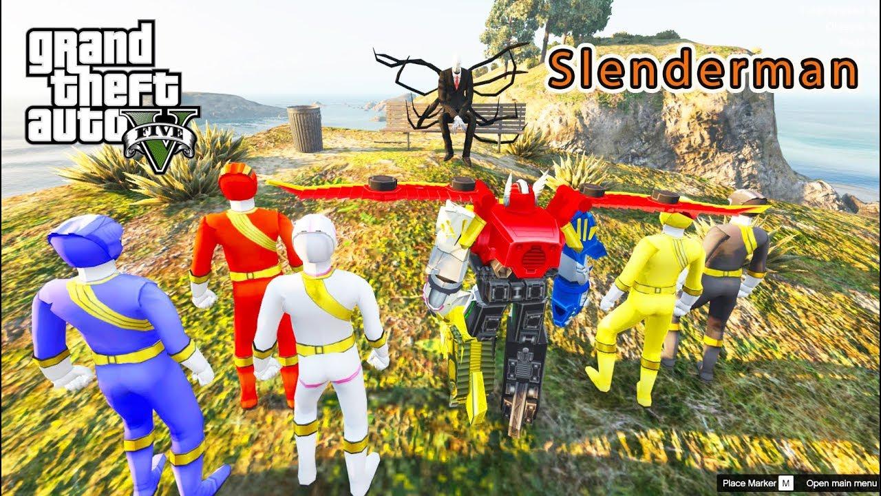 GTA 5 Mod – Biệt Đội Siêu Nhân Gao Đi Truy Tìm SLENDERMAN