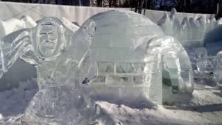 Парк Сокольники  Ледяные фигуры Февраль 2017