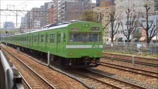 JR西日本 103系 出場試運転@東海道本線・東淀川駅