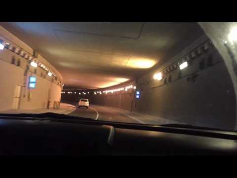 Tunnel night drive Qatar corniche
