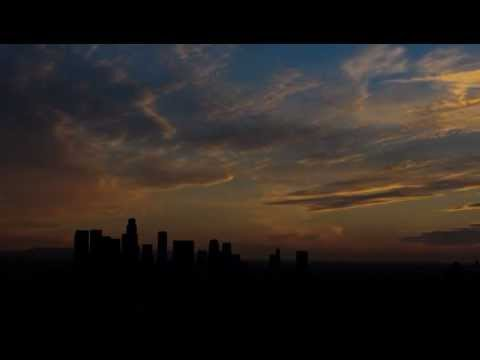 Elysian Park Timelapse of Downtown Los Angeles at sunset