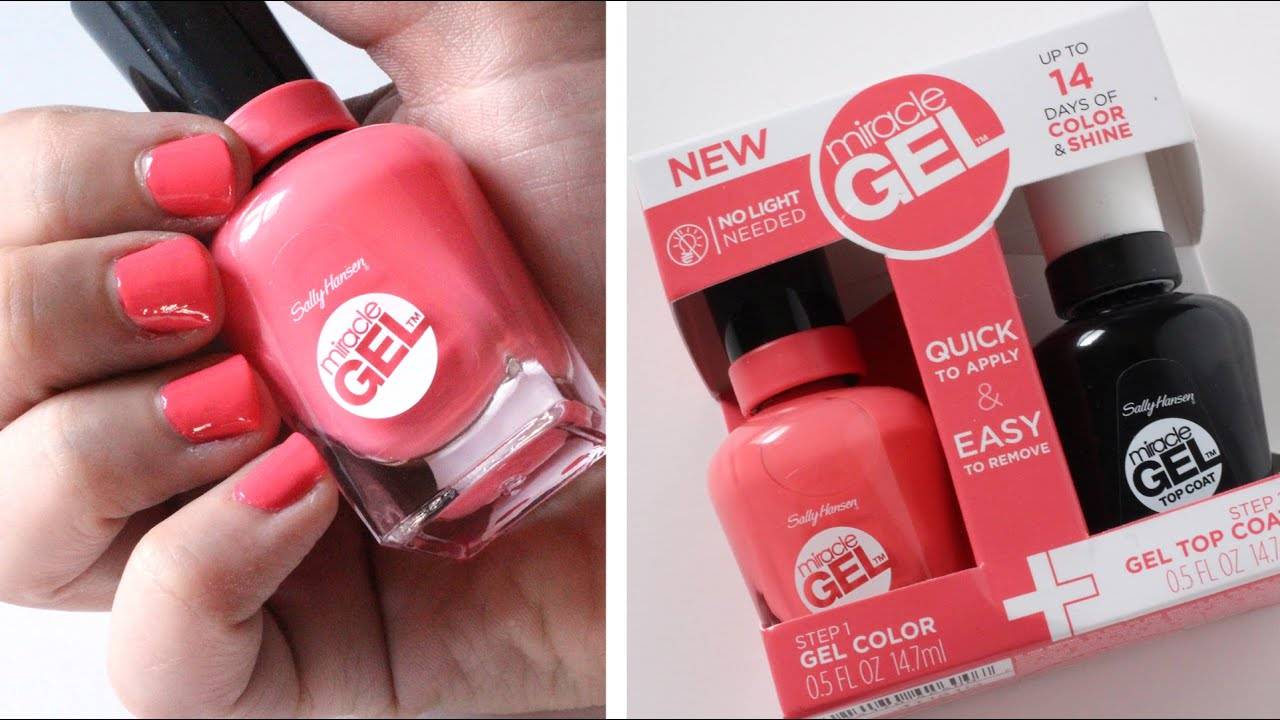 Sally Hansen Miracle Gel Nail Polish Review - YouTube