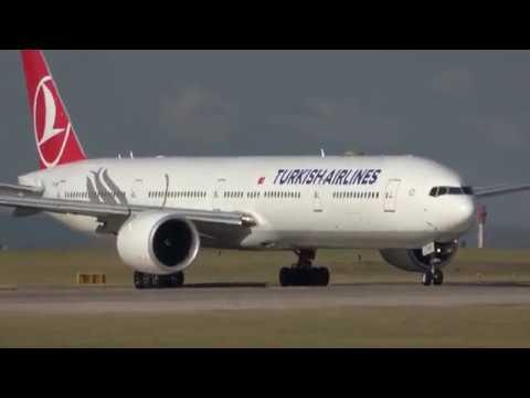 Epic Takeoff Turkish Airlines TK1996 TC-LKB Boeing 777-36N From MAN On 08/08/2018