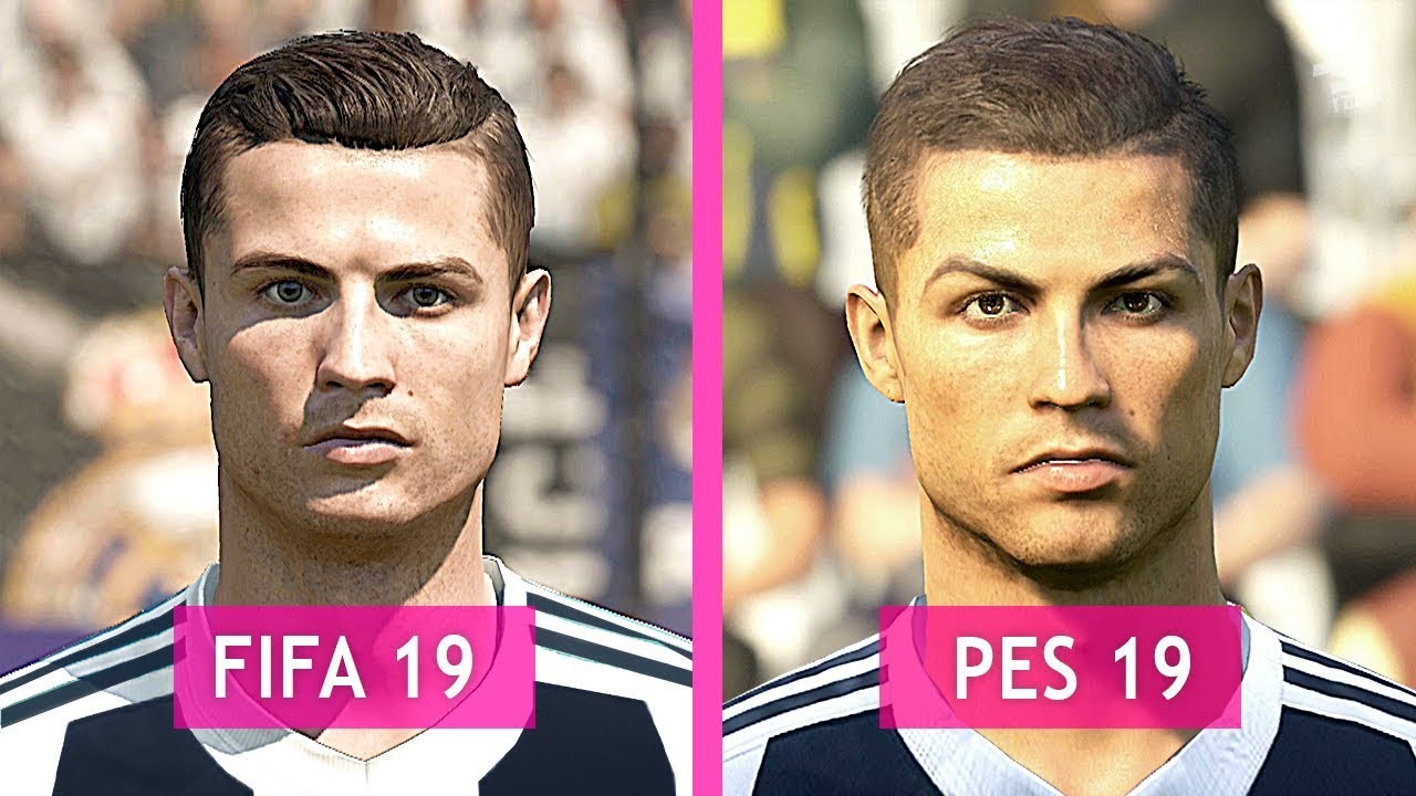 FIFA 19 Vs PES 19: Juventus Faces Comparison