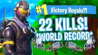 *WORLD RECORD* Kill Streak in Fortnite: Battle Royale Mobile (20+ Kills!!!)