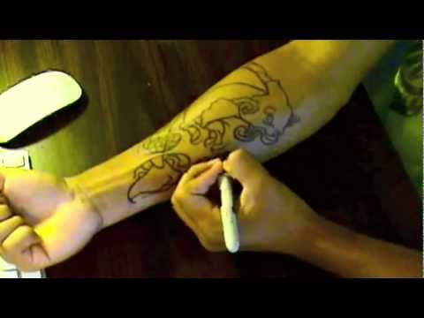 How To Make A Koi Fish Temporary Tattoo - How To DIY