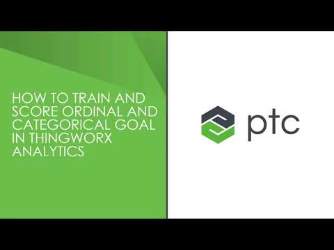 How to work with ordinal and categorical data in ThingWorx Analytics ?
