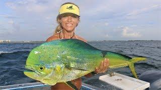 Deep Sea Fishing for Mahi Mahi in Florida with Darcie GoPro Video
